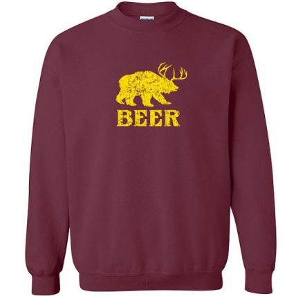 Beer funny deer Bear Animal Unisex Sweatshirt