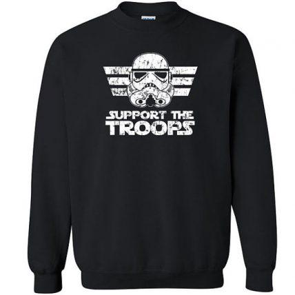 Support the Troops funny geek Unisex Sweatshirt