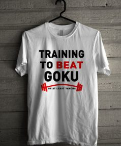 Training to Beat Goku Unisex T Shirt
