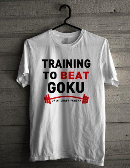 Training to Beat Goku Unisex T Shirt