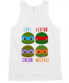 5 Seconds of Summer Ninja Turtles Unisex Tank Top