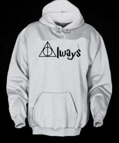 Always Deathly Hallows Harry Potter Unisex Adult Hoodie