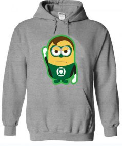 Despicable Me Minions Superheros Green Lantern Unisex Adult Hoodie