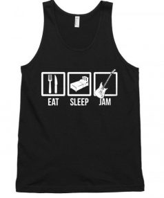 Eat Sleep JAM Music Rock and Roll Unisex Tank Top