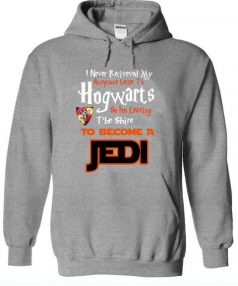 Funny Hogwarts Harry Potter Jedi to Become a Jedi Unisex Adult Hoodie