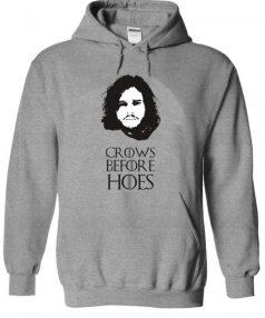 Game of Thrones Jon Snow-crows before hoes Unisex Adult Hoodie