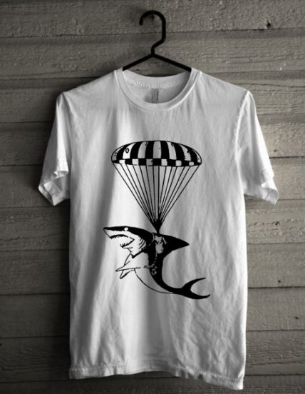 Jaws Parachuting Unisex T Shirt