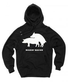 Makin Bakon white Unisex Adult Hoodie