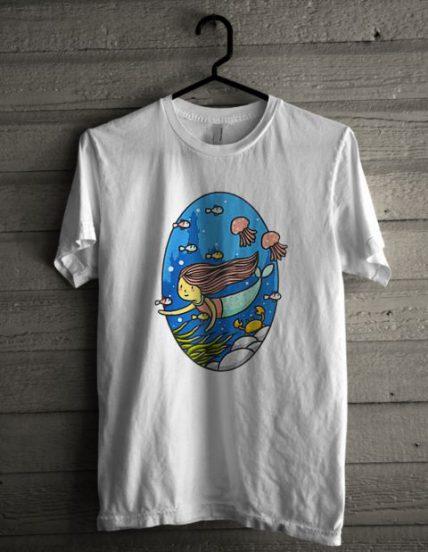 Mermaid Blue Unisex T Shirt