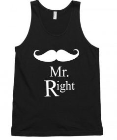 Mr Right funny Unisex Tank Top