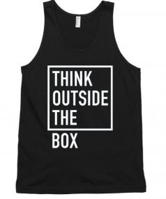 Think outside the box Unisex Tank Top