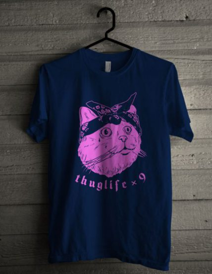 Thug Life Cat Unisex T Shirt