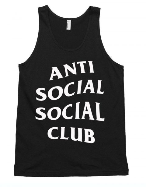 f03530c0ce94 Anti Social Club Unisex Tank Top