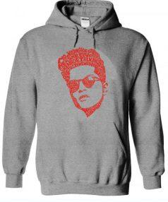 Bruno Mars thypography Unisex Adult Hoodie