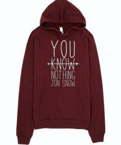 You Know Nothing Jon Snow Unisex Adult Hoodie