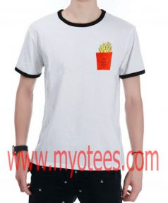 Love French Fries Ringer Unisex T Shirt