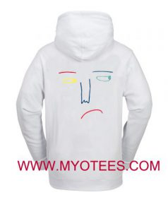 Sad Face Drawing Adult Hoodie