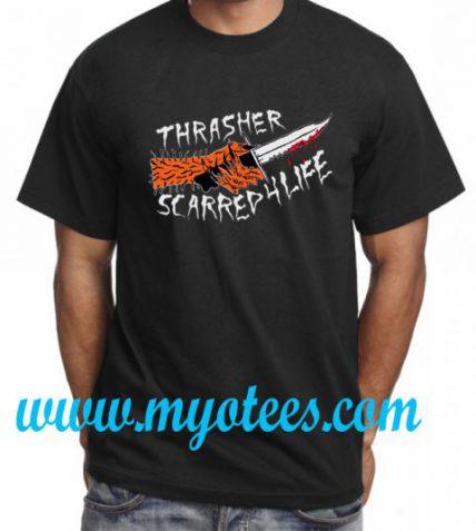 Thrasher Scarred For Life Unisex T Shirt