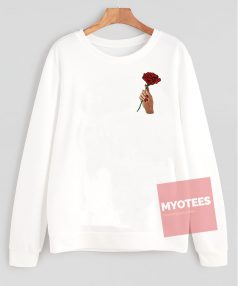 Red Roses in Hand Unisex Sweatshirt