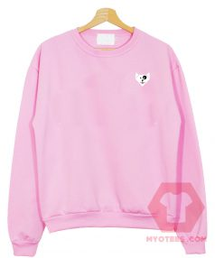 Cat and Dog Simple Funny Pink Unisex Sweatshirt