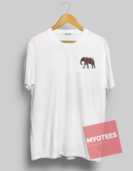Elephant Pattern Unisex T Shirt
