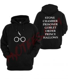 Harry Potter Book titles nerdy Unisex Adult Hoodie