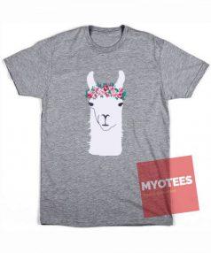 Little Llama in Flower Crown Unisex T Shirt