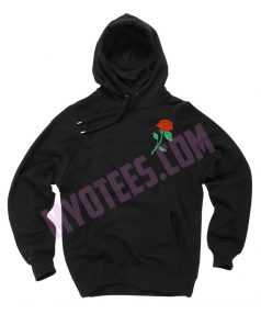 Rose Embroidery Unisex Adult Hoodie