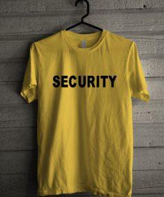 Security Yellow Unisex T Shirt