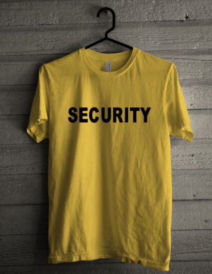 Security Yellow Unisex T Shirt