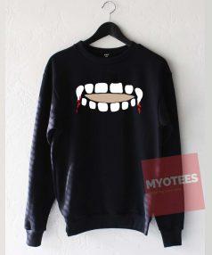 Vampire Teeth Keyhole Unisex Sweatshirt