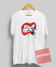 Lips Dope Earphone Unisex T Shirt