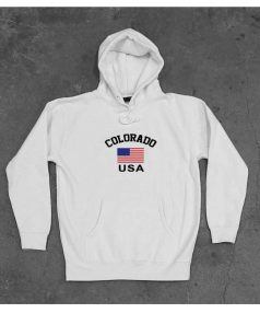 Colorado Flag USA Unisex Adult Hoodie