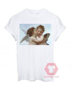 Angel Kiss White T shirt Unisex T - Shirt