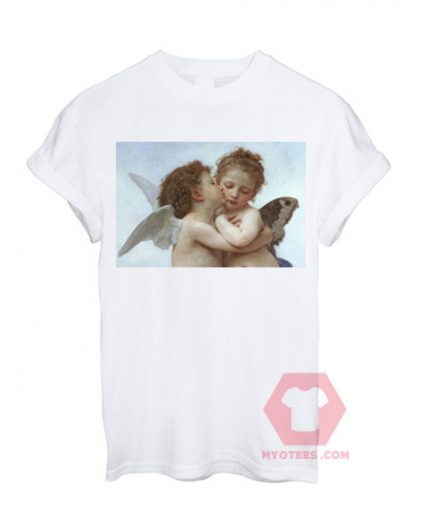 Angel Kiss White T shirt Unisex T - Shirt