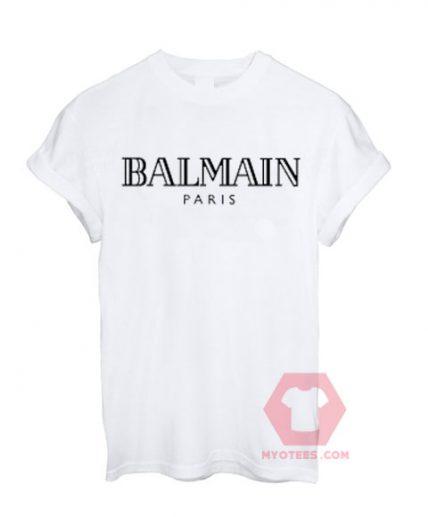 Balmain Paris White T shirt Unisex T Shirt | MY O TEES