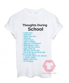 Thoughts During School Unisex T Shirt