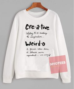 Cheap Sweatshirt Creative Weirdo Defined Unisex on Sale