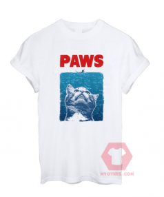 Best T shirt PAWS - Jaws Parody Unisex on Sale