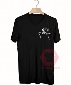 Best T shirts Let's Chill Out Man Skeleton Unisex on Sale
