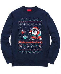 Cheap Sweatshirt Tidings of Cuphead Christmas Unisex on Sale