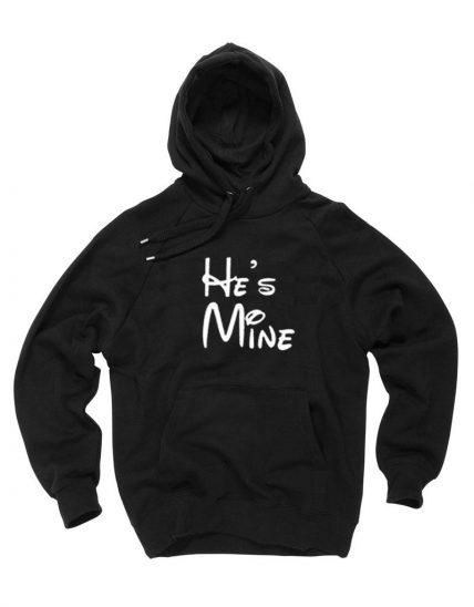 New Hoodie He's Mine Unisex on Sale