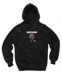 New Hoodie Broken Flower Unisex on Sale