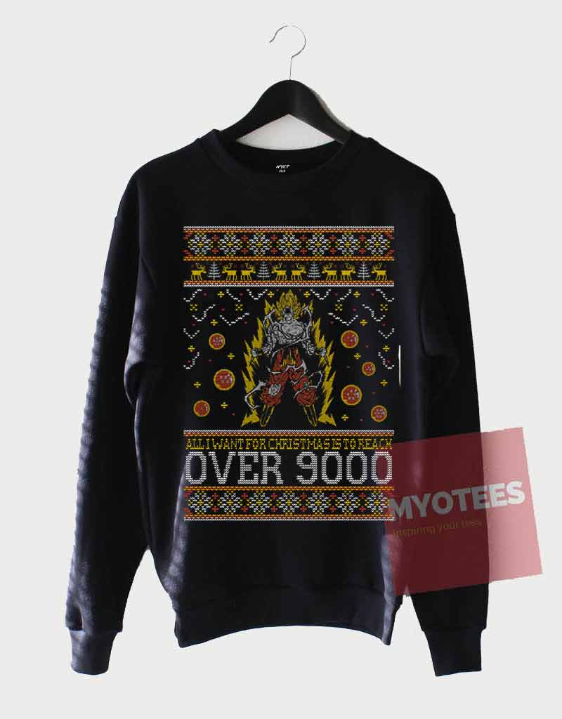 Funny Dragon Ball Z Ugly Christmas Sweatshirt