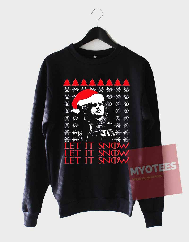 funny jon snow ugly christmas sweatshirts