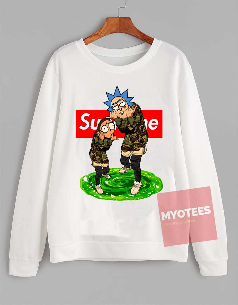 745b9e82056a Rick And Morty Supreme Sweatshirt