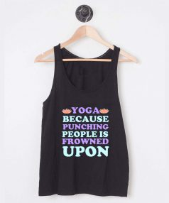 Buy Tank Top Yoga Because Punching Unisex on Sale