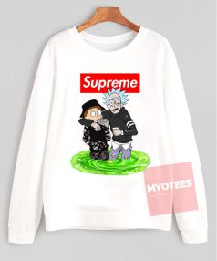 Cheap Custom Supreme Style Rick And Morty Unisex Sweatshirt