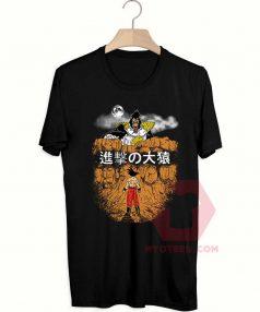 Cheap Custom Tees Attack on Oozaru And Goku On Sale