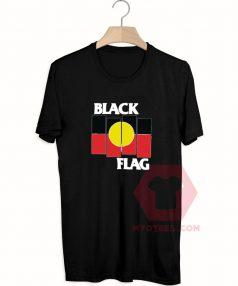 Cheap Custom Tees Black Flag X Aboriginal Flag On Sale